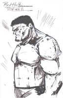 Red Hulk Laundry Sketch by NexusDX