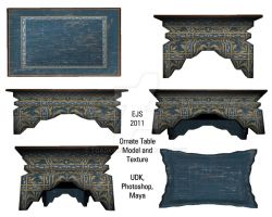 Ornate Table, Model, Texture by toadking07