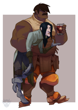 Dean and Ravendor by Astrall-Cooties