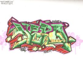 Nero 13 Graffiti by LunaCreationsX