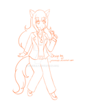 Comm - Wolf Detective Woman Design by Juliana1121