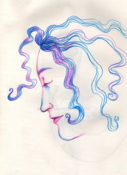 Face Sketch- Cotton Candy by lylah-rose