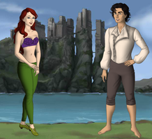 Ariel and Eric beach 2 by menolikee