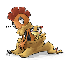 Art Trade: Scraggy + Scrafty by ky-nim