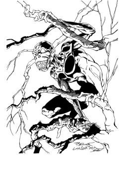 Wrightson Cover Sketch Inks by Ink-Professor