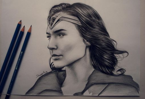 wonder woman 2017 ( +speed drawing ) by staceyElmoro