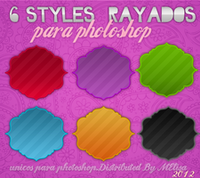 Styles Rayados Photoshop by MeelisaS