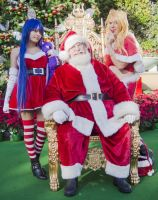 Panty and Stocking and Santa Claus by moonymonster