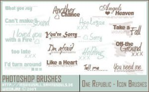 One Republic - Lyric Brushes by WiccaJaz