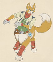 Starfox Taurs #2 - Fox Mccloud by dragonheart07