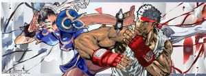 Chun-Li versus Ryu by Big-Mex