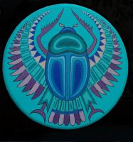 Turquoise Scarab by fourtriangles