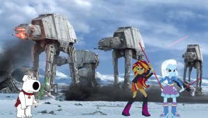 Lightsaber Duel - Brian Griffin vs. SS and HTL by Hiattgrey411