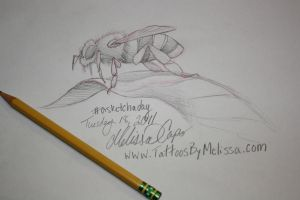 A lil bee sketch by Melissa-Capo