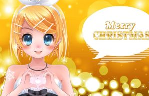 Rin Kagamine: Merry Christmas by TheMidnightNightmare