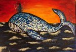 Lone whale by FranciscaMeena