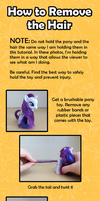 My Little Pony Custom Guide - Removing the Hair by Amandkyo-Su