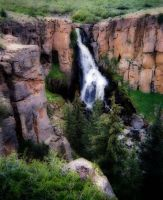 Waterfall outside of Creede by xcat