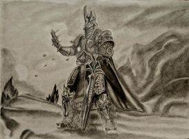 PRINCE ARTHAS Uncolored by diablocyrus