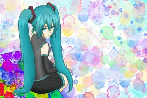 Hatsune Miku Color Splah by amibluegirl
