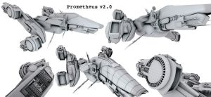 Prometheus 3D ship Design by RomanianGuy