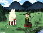 Moominmama and Snufkin by NuclearJackal
