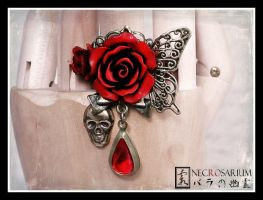 ''Blood of Butterfly'' Ring by Necrosarium
