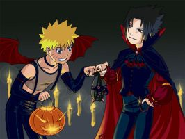 Naruto. Halloween by Aerindelle