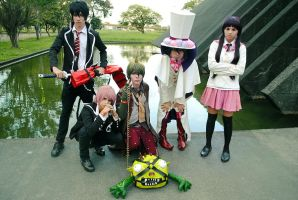 Ao no Exorcist - group shot by YoruAoimoto