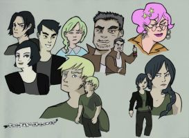 Hunger Games Characters by adriley