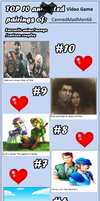 Top 10 Video Game Couples by CannedMadMan66