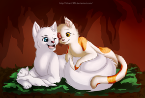 V-Day Brightheart X Cloudtail by hikari2314
