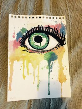 Painted Eye by daisymaydrawings