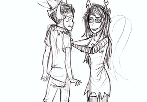 Vriska: Make Pupa have happy thoughts. by Nurbzwax