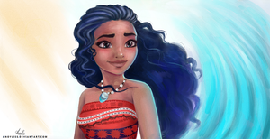 Moana sketch by Anoyliss