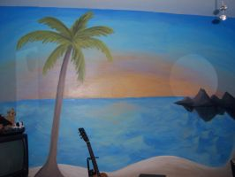 Mural: Beach scene by j2starshine