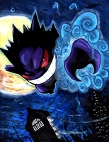 Gengar used Shadow Claw by matsuyama-takeshi