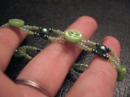 Green Button Bracelet by sampdesigns