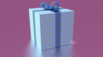 3d Gift Box Blue with Stars by InspireMari