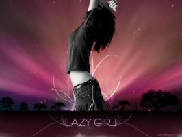 Lazy Girl by princepal