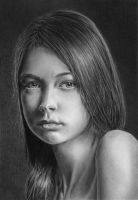 Pencil portrait of Julia by LateStarter63