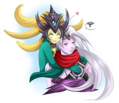 Nami and Varus - league of legends - Support by Bastet-sama