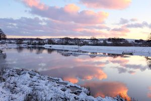 Sunset over Fremington Pill by Andyw01
