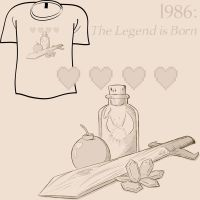 Woot Shirt - Birth of a Legend by fablefire