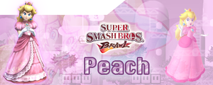 SSBB Peach Siggy by ChibiYugi
