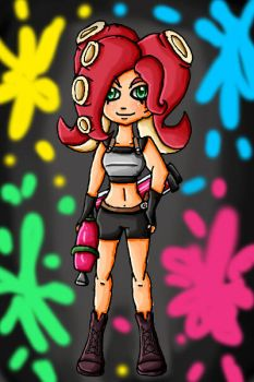 octoling by ninpeachlover
