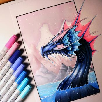 Water Dragon Drawing by LethalChris