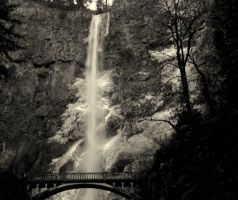 Icy Multnomah Falls, Oregon by xsiorcanna