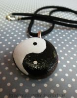 Ying Yang Necklace by Forbiddenynforgotten
