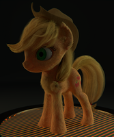 Applejack Fur test WIP by ryolo132
